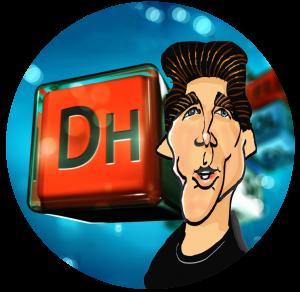 Dave Helmly Cartoon Bubble Head